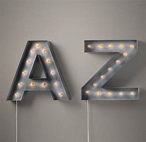 vintage illuminated marquee letters i restoration hardware With restoration hardware metal letters