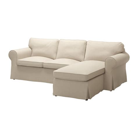 Chaise En Rotin Chez Ikea by Ektorp Loveseat And Chaise Nordvalla Dark Beige Ikea