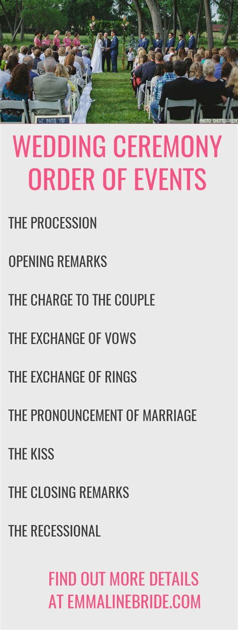 wedding ceremony order how to plan your ceremony order of events http emmalinebride ceremony order events