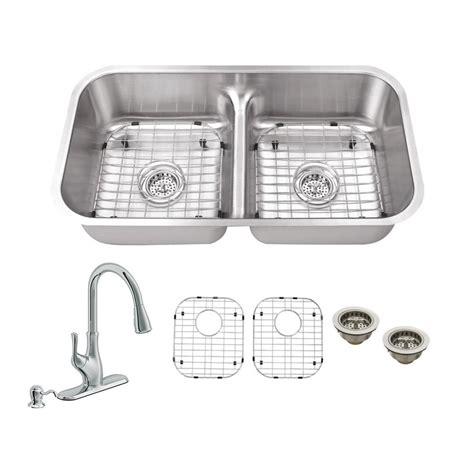 schon kitchen sinks schon all in one undermount stainless steel 33 in