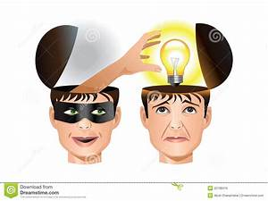 Concept Of A Man Stealing Another Man's Idea Stock Vector ...