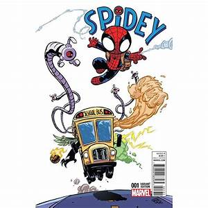 Spidey #1 variant cover by Skottie Young * | Marvel kids ...