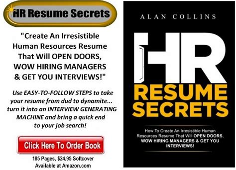 Resume Success Secrets by Hr Resume Secrets Create An Irresistible Human Resources