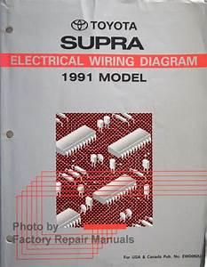 1991 Toyota Supra Electrical Wiring Diagrams Manual