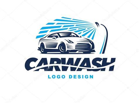 Lavagem De Carro Do Logotipo Sobre Fundo Claro