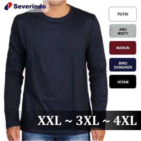 kaos bigsize 4xl 2 baju kaos lengan panjang kaos polos cowok big size