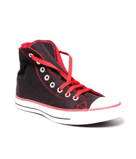 converse unisex  black red canvas casual shoes  uk buy converse unisex  black red canvas casual shoes  uk