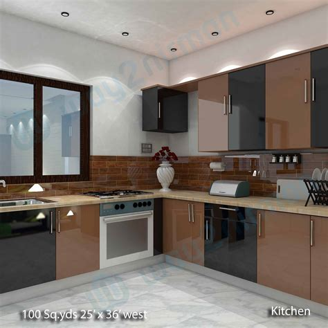 kitchen room interior way2nirman 100 sq yds 25x36 sq ft house 2bhk