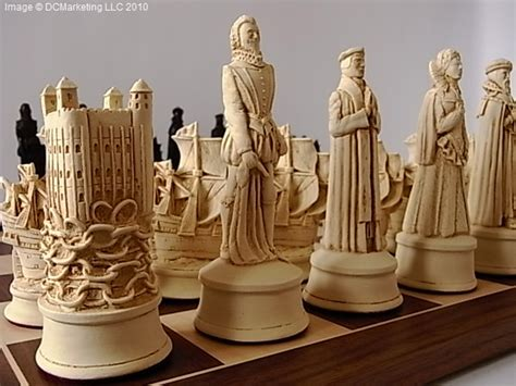 elizabethan plain theme chess set