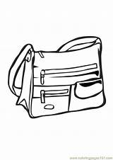 Purse Coloring Pages Handbag Template sketch template