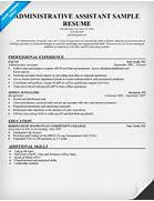 Sample Administrative Assistant Resume Templates Administrative Assistant Resume Example Free Admin Administrative Assistant Resume Resume Downloads Executive Assistant Resume