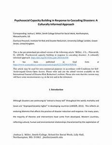 Pdf  Psychosocial Capacity Building In Response To