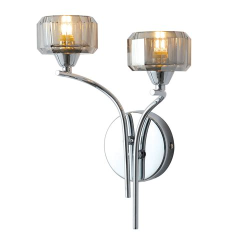 allyn clear chrome smoked glass wall light departments