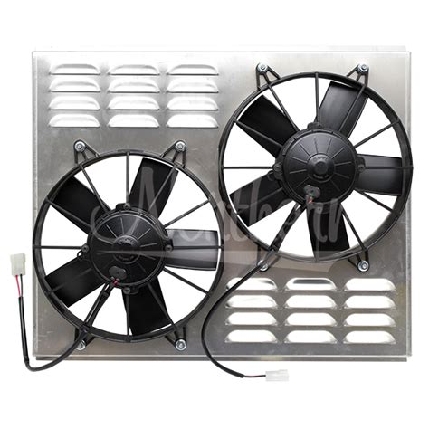 dual electric fans with shroud northern factory dual 10 quot electric fan shroud 17 5 8
