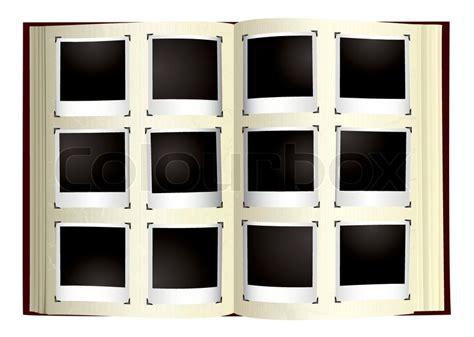 fashioned photo album  instant photographs stock