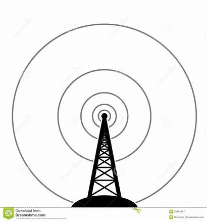 Radio Tower Broadcast Illustration Clipart Vector Royalty