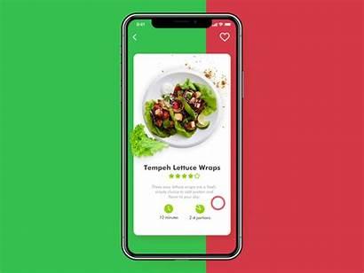App Vegan Ui Animation Recipe Mobile Motion