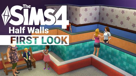 Partner site with sims 4 hairs and cc caboodle. Sims 4 Half Walls - First Look - YouTube