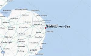 on map gorleston on sea weather forecast
