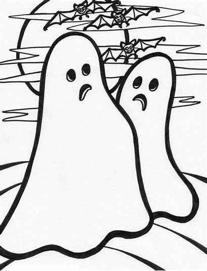 Ghost Coloring Pages Ghosts Printable Halloween Clip