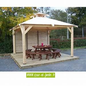 Tonnelle Terrasse : tonnelle terrasse tonnelle en bois pergola bois en kit ~ Melissatoandfro.com Idées de Décoration