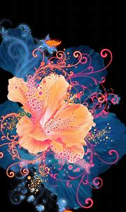 HD Abstract Flower Neon Painting Android Wallpaper free ...