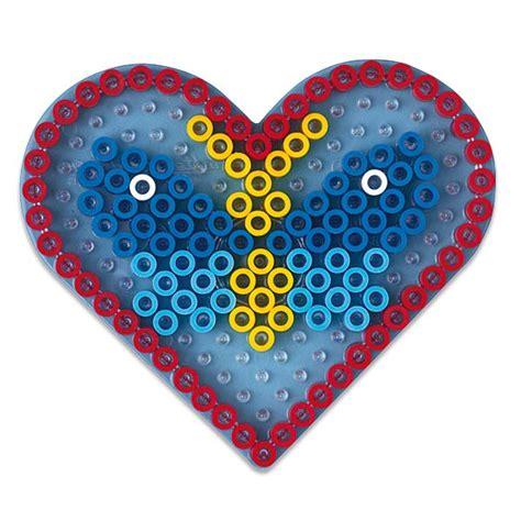 siège pour bébé plaque transparente pour perles à repasser coeur hama