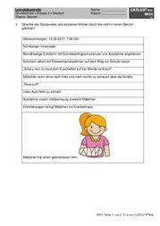 Aufsatzthema angstgeschichte unter der vorlage einer bildergeschichte. Aufsatz Deutsch Klasse 3 Grundschule   Catlux