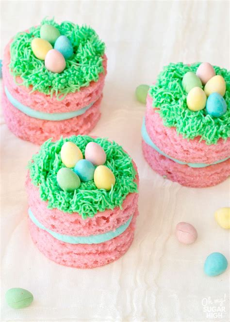 If you are searching for some easy sugar free desserts because you feel it's time to cut back on the sugar, then you are exactly in the right place! Mini Easter Cakes with Chocolate Eggs - Oh My! Sugar High   Easter cakes, Easter eggs chocolate ...