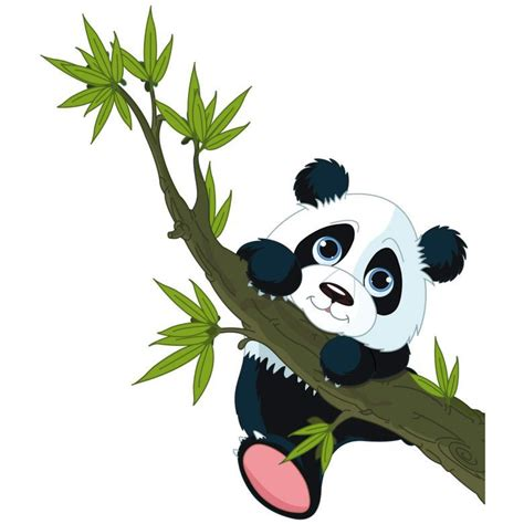 muursticker klimmende panda plaatjes muurstickers