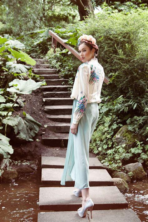 whimsical floral fashion secret garden  jessica prautzsch
