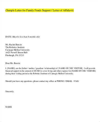 sample affidavit  support letters