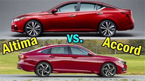 2019 Nissan Altima Vs. Honda Accord