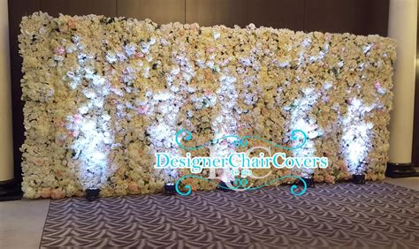 the luxury floral wall by designer chair covers to go