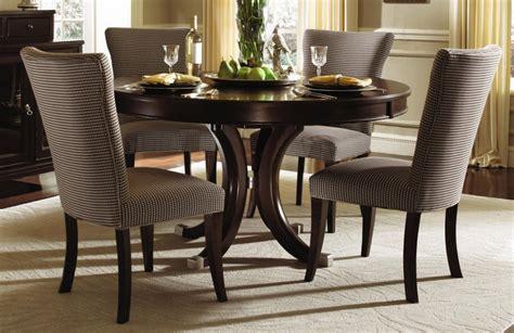 round table dinette sets elegant formal dining room design with espresso finish