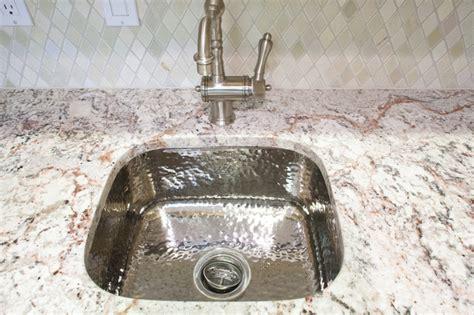 hammered stainless steel kitchen sink hammered stainless steel bar sink traditional kitchen 6977