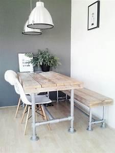 Stühle Im Eames Stil : wat je kunt maken van steigerhout interieur blog pinterest esszimmer m bel en esszimmer b ro ~ Indierocktalk.com Haus und Dekorationen