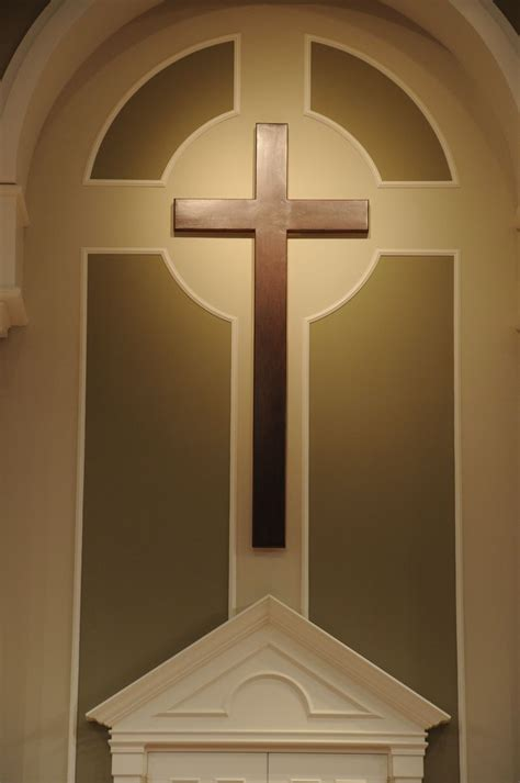 hand crafted church cross  yoder custom design