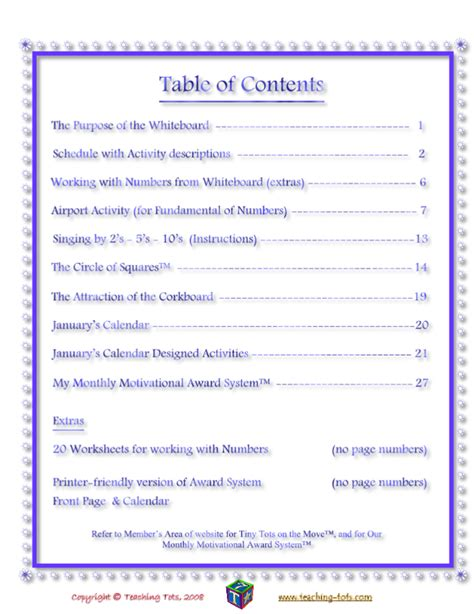 table of contents sle 404 not found
