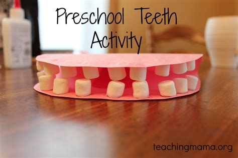 model mouth craft  preschoolers  construction paper