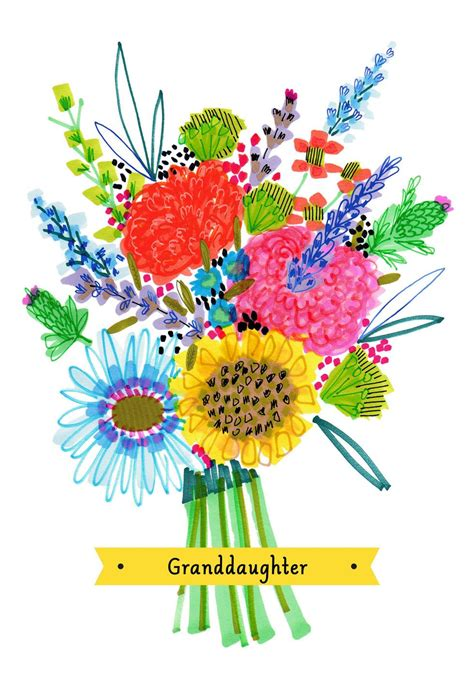 colorful flower bouquet mothers day card