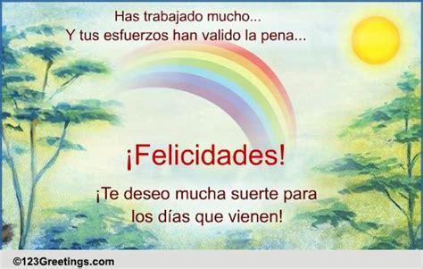 spanish congratulation card  congratulations ecards