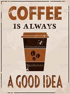 affiche rétro style café - Illustration: 16693917 | Mes ...