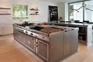 stainless steel kitchen island stainless steel kitchen with island miami by officine gullo