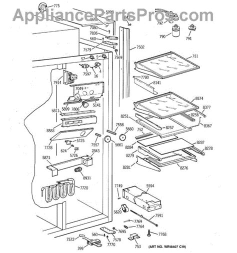parts  ge zissdcass fresh food section parts appliancepartsproscom