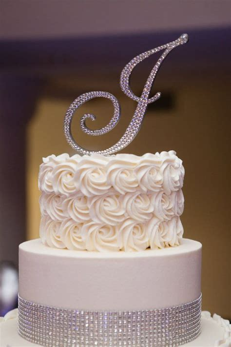 shipping swarovski crystal monogram cake  enchantingmoment  wedding cake toppers