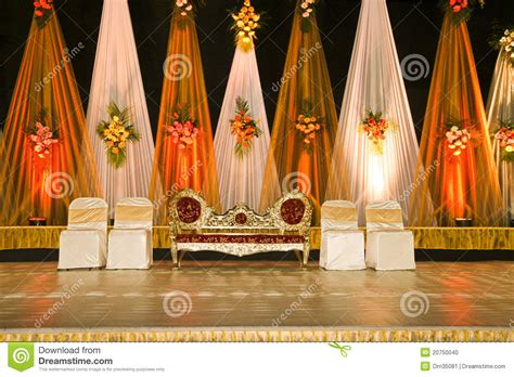 wedding stage  stock photo image  chairs colorful