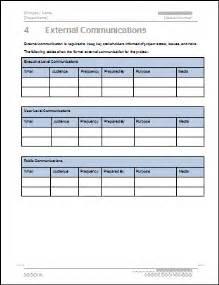 Internal Communication Plan Templates