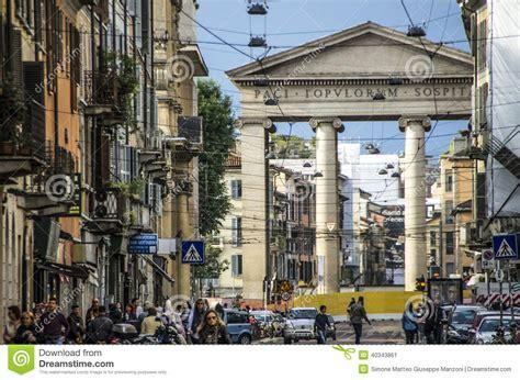 Porta Ticinese Milan Italy by Porta Ticinese Milan Italy Fotografia Editoriale