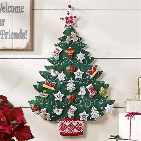 nordic christmas tree bucilla advent calendar